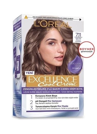 L'Oréal Paris L'Oréal Paris Excellence Cool Creme SaçBoyası – 7.11 Ekstra Küllü Kumral Renksiz